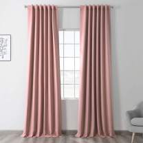 HPD Half Price Drapes BOCH-171518-120 Blackout Room Darkening Curtain (1 Panel), 50 X 120, Fresco Blush