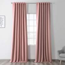 HPD Half Price Drapes BOCH-171518-120 Blackout Room Darkening Curtain (1 Panel), 50 X 120, Fresco Blush