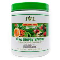 IVL Hi-Octane All Day Healthy Energy Greens Powder, 30 Servings per Canister, Fruity Flavor