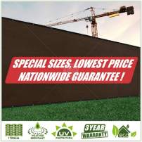 ColourTree Customized Size Fence Screen Privacy Screen Beige 3' x 104' - Commercial Grade 170 GSM - Heavy Duty - 3 Years Warranty - Cable Zip Ties Included