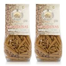 Morelli Strozzapreti 100% Chickpea Pasta - Gluten Free Pasta High in Protein and Fiber, from Italy 8.8oz /250g (2 pack)