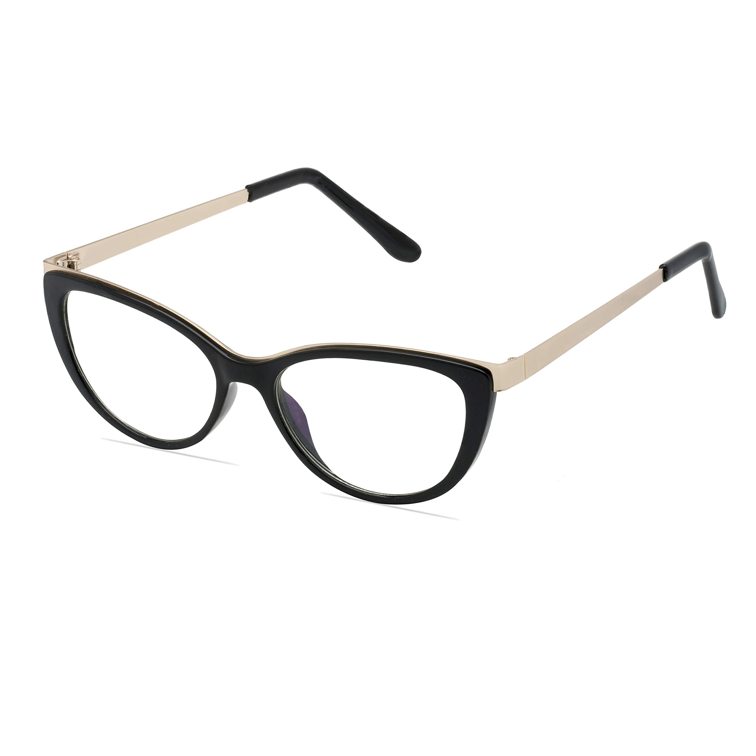 Premium Blue light blocking glasses - Cateye Frame equipped with Metal Arms and high grade blue block lenses- Anti Eyestrain
