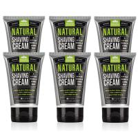 Pacific Shaving Company Natural Shaving Cream - Safe, Natural, and Plant-Derived Ingredients for a Smooth Shave, Softer Skin, Less Irritation, Cruelty Free, 3.4 oz (6 Pack)