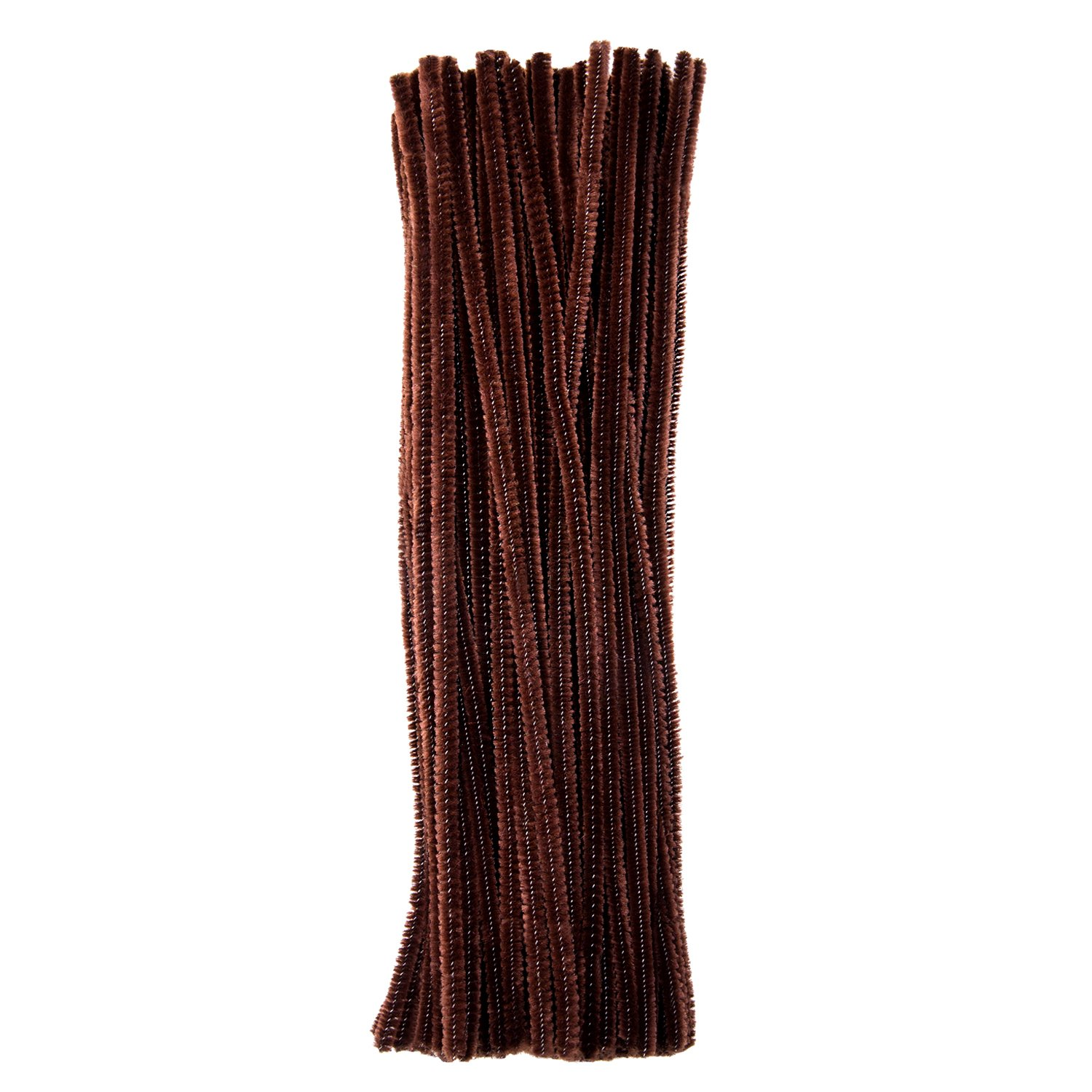 eBoot 100 Pieces Pipe Cleaners Chenille Stem for Arts and Crafts, 6 x 300 mm (Brown)