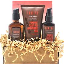 Thrive Natural Men's Skin Care Set (3 Piece) – Grooming Gift Set to Wash, Shave, and Moisturize Daily; Gift for Men Made in USA with Organic & Unique Natural Ingredients for Healthy Mens Skin Care