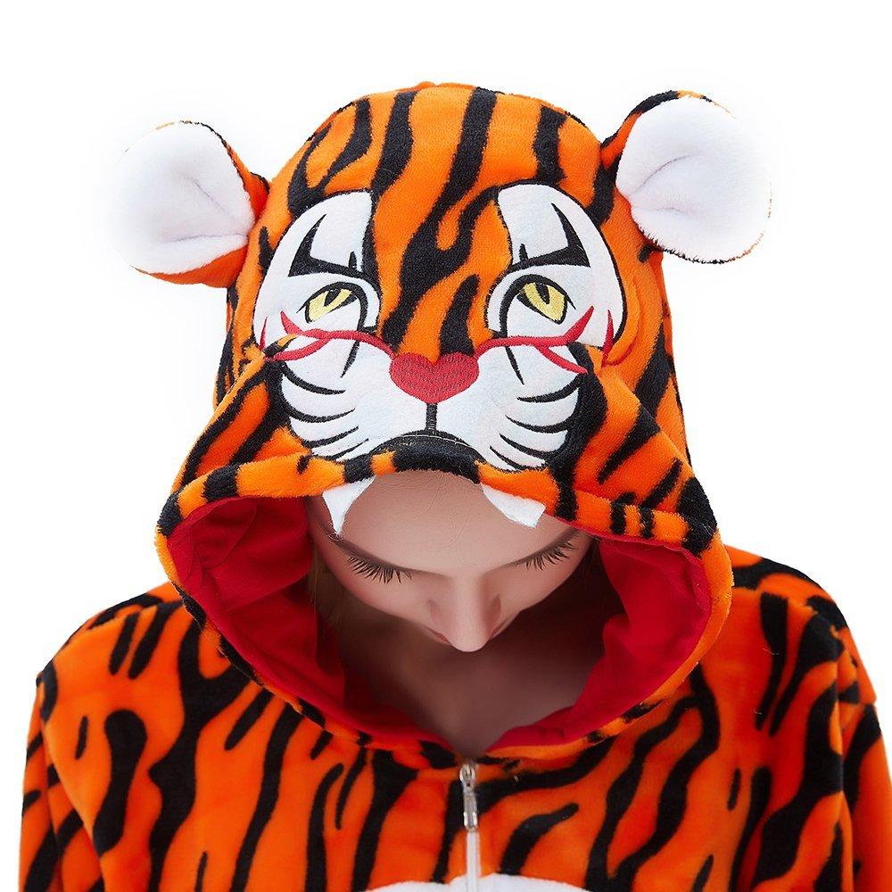 ABENCA Kids Fleece Onesie Pajamas Christmas Halloween Animal Cosplay Sleepwear Costume