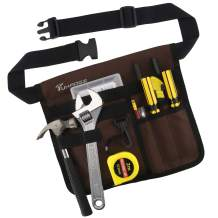 Tool Bags Professional Electrican's Tool Pouch With Belt Bag Many Pockets for Maintenance Tool Pouch (Brown)