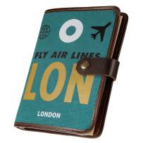 Travel Diary - Refillable Writing Journal Notebook Sketch Book Photo Album with 160 Blank Pages and PVC Pockets