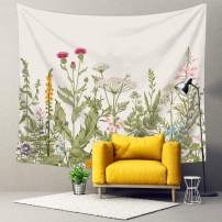 """Kingla Home Colorful Floral Tapestry Wall Hanging Nature Scenery Plants Flower Tapestry for Bedroom 70.9""""x92.5"""""""