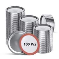 100Pcs Canning Lids Regular Mouth, Upgrade Thicker Mason Jar Lids for kerr and Ball Canning Jars, Split-type Canning Jar Lids, Leak Proof, Food Grade Material Jar Lids (2.75in Lids)