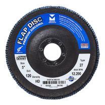 "Mercer Industries 266120 Zirconia Flap Disc, High Density, Type 27, 5"" x 7/8"", Grit 120, 10 Pack"