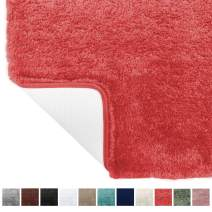 Gorilla Grip Original Premium Luxury Bath Rug, 30x20 Inch, Incredibly Soft, Thick, Absorbent Bathroom Mat Rugs, Machine Wash and Dry, Plush Carpet Mats for Bath Room, Shower, Hot Tub, Coral