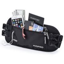 Hidden Money Belt, RFID Travel Wallet Passport Holder Security Waist Pouch