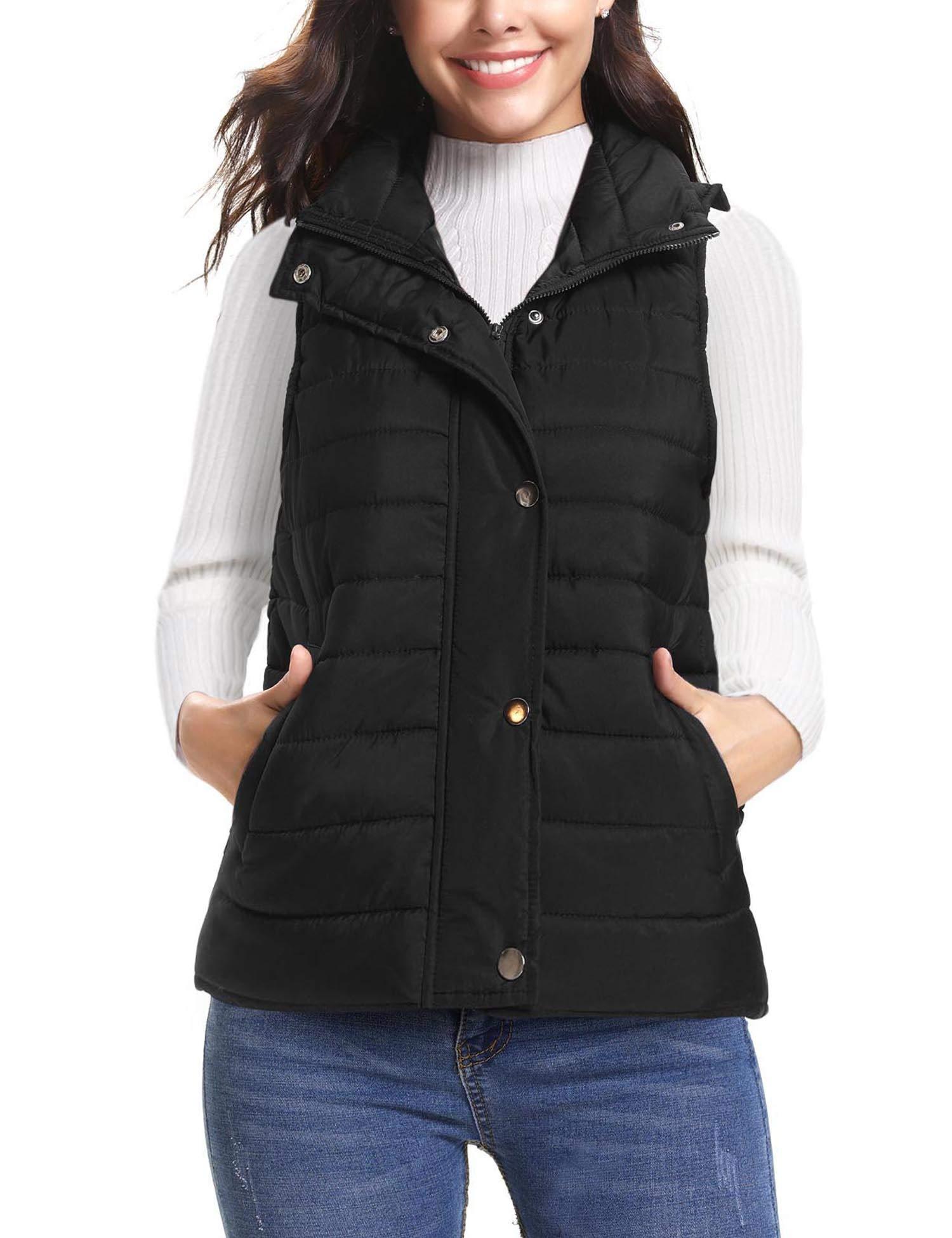 iClosam Women's Winter Puffer Vest Lightweight Packable Down Vest Quilted Jacket Coat