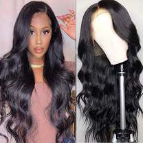 Lace Front Wigs Human Hair 13x4 Body Wave Human Hair for Black Women Pre Plucked with Baby Hair 150% Density Brazilian 10A Human Hair Natural Hairline SissiPrincess (18 Inch, Body Wave)