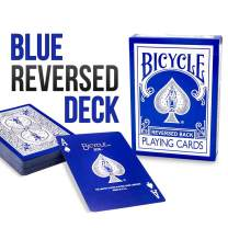 Magic Makers Bicycle Blue Ice Reversed Deck Rider Back Poker Size Playing Cards - Including Bonus Gimmick Cards for Performing Magic Tricks and Cardistry Flourishes