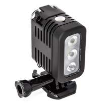 Ultimaxx's Professional Multi-Purpose, Super Strong Illumination 40M Underwater LED for GoPro 5/6/7/8/MAX 360, and DJI Osmo Action Cameras with Rechargeable Battery