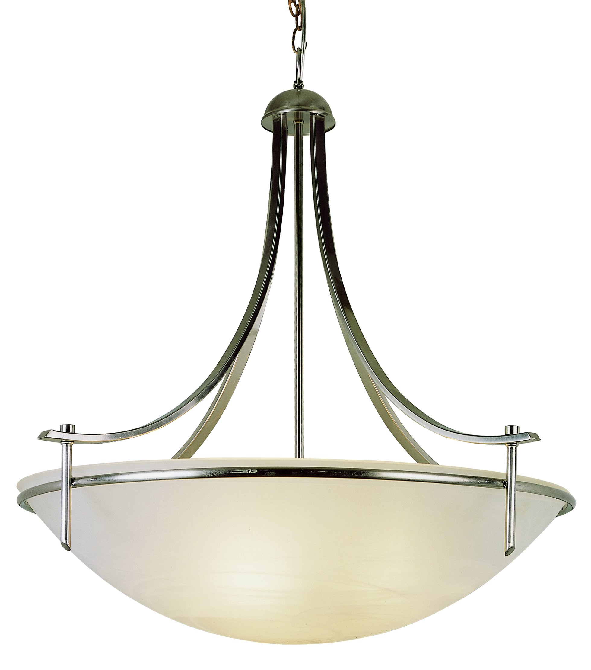 Bel Air Lighting Trans Globe Imports 8178 BN Transitional Four Light Pendant from Vitalian Collection in Pwt, Nckl, B/S, Slvr. Finish, 32.00 inches, Brushed Nickel