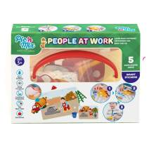 Pic N Mix Toddler Board Games - People at Work Preschool Educational Learning Matching Game, Montessori Activity for Age 3 and up, Creativity, Waterproof