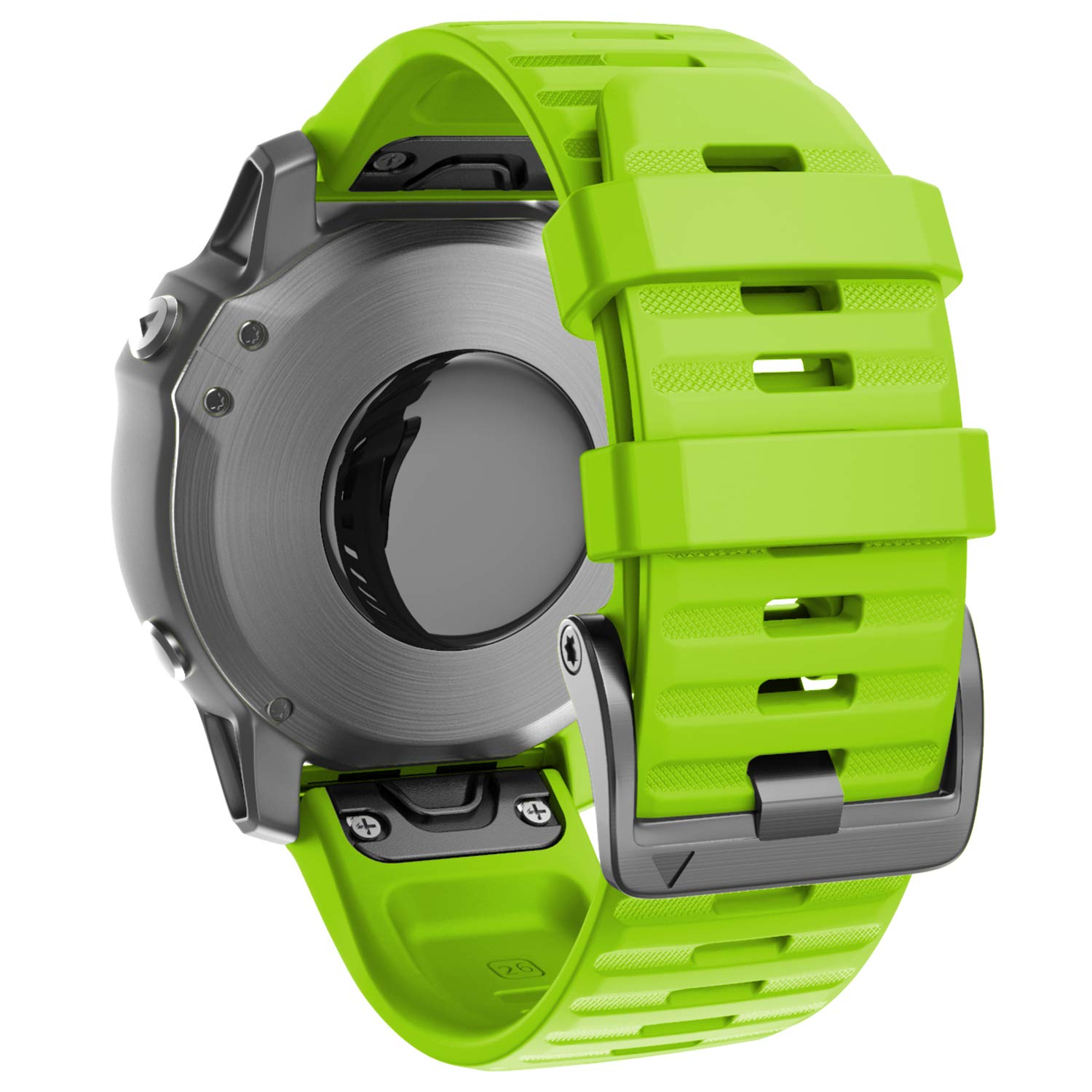 ANCOOL Compatible with Fenix 6X Bands 26MM Easy-fit Soft Silicone Watch Band Replacement for Fenix 5X/Fenix 5X Plus/Fenix 3/Fenix 3HR/Fenix 6X Pro Smartwatches, Green