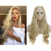 "Long Synthetic Half Wig Blonde Clip in Curly Wavy 26"" 1PC Full Head Thick Hair Extension Cosplay For Women Hairpiece Japan Heat Friendly Fiber UW01&16H613"