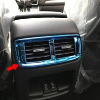 Beautost Fit For Honda 2017 2018 2019 CR-V CRV Interior Rear Seat Air Condition Vent Outlet Cover Trim (Blue)
