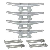 VEITHI 6 Inch Dock Cleat - Hot Dipped Galvanized Cast Iron Boat Cleats, Rope Cleat, Boat Dock Cleats - Ideal for Marine, Deck, Nautical Decor(4, 6, 8, 12 Pack)