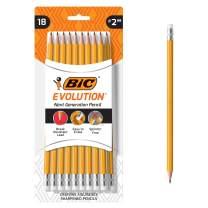 BIC Evolution Cased Pencil, #2 Lead, Yellow Barrel, 18-Count