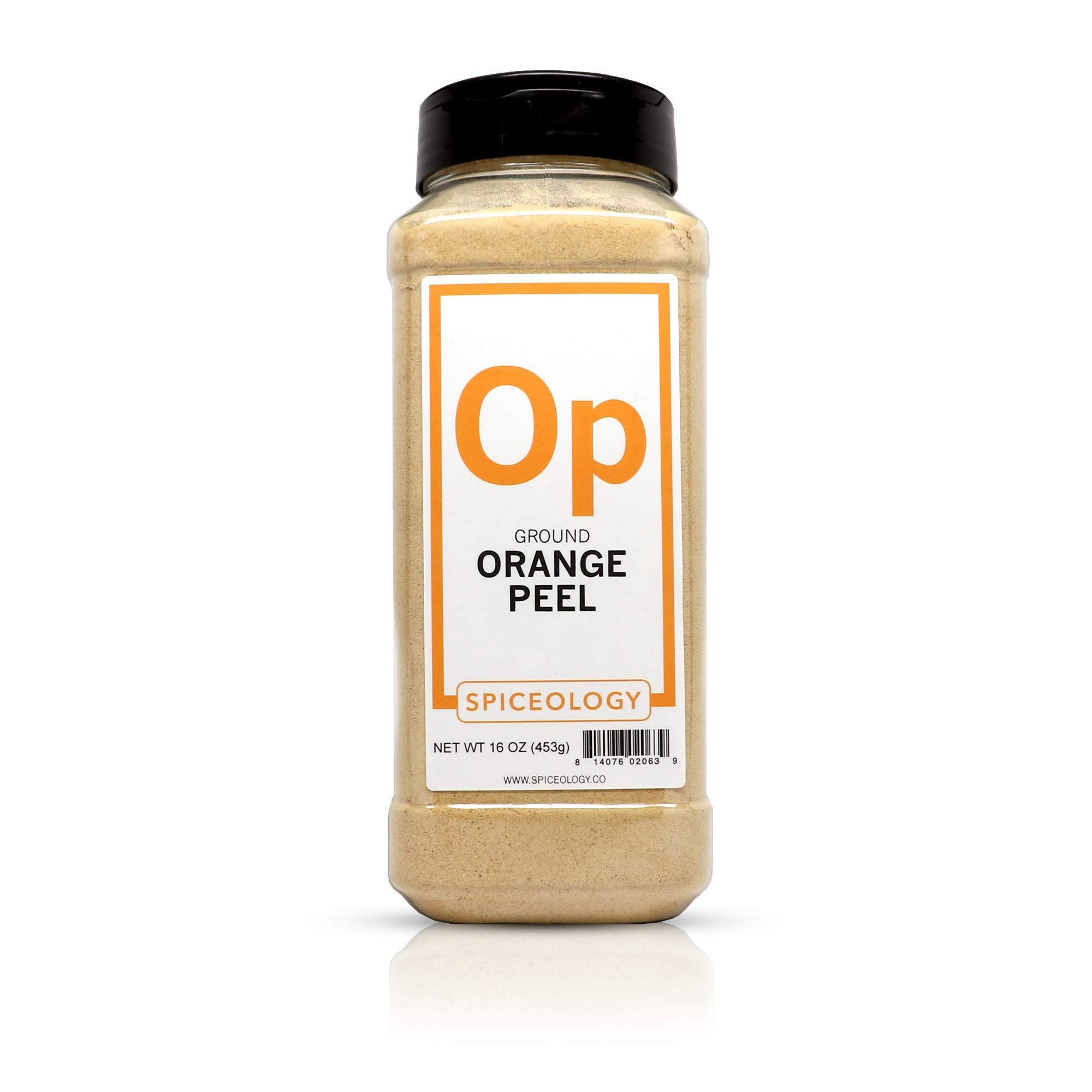 Orange Peel Powder - Spiceology Ground Orange Peel - 16 ounces