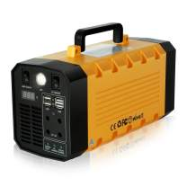 288Wh Portable Power Station 75000mAh, Outdoor Solar Generator Lithium-ion Batteries 500Watt Backup Power with 110V AV/12V DC/4 USB Ports and More for Camping/Adventure/Trips (Solar Panel Optional)