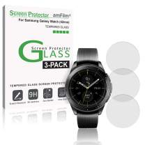 amFilm Glass Screen Protector Compatible with Samsung Galaxy Watch 2018 (42mm) 3 Pack Screen Protector for Galaxy Watch 42mm 2018 (3 Pack)