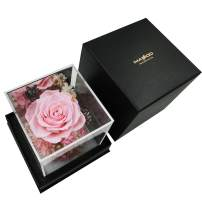 MASOO Preserved Rose Flowers,Flower Roses for Women Wife Mom,Room Decor,Birthday Gifts Valentine Present (Pink)