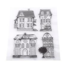 Acrylic Blocks Stamps, Christmas Rubber Stamps Clear Bird House Rubber Stamps DIY Scrapbook Card Making Decoration Supplies Gifts, Handmade Transparent Stamps