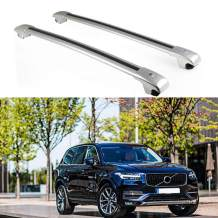 MotorFansClub Luggage Rack Top Roof Rack Cross Bar Crossbar with Locking Key for Volvo XC90 XC 90 2015 2016 2017 US Stock