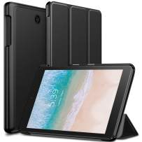 INFILAND T-Mobile Alcatel Joy Tab 8/ Alcatel 3T 8 Tablet Case, Tri-Fold Cover Compatible with T-Mobile Alcatel Joy Tab 8-inch 2019 Release/Alcatel 3T 8-inch 2018 Released Tablet, Black