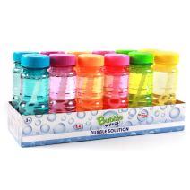 Big Bubble Bottle 12 Pack - 4oz Blow Bubbles Solution Novelty Summer Toy - Activity Party Favor Assorted Colors Set