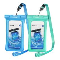 """Mpow 084 Waterproof Phone Pouch Floating, IPX8 Universal Waterproof Case Underwater Dry Bag Compatible iPhone 11 Pro Max/XS Max/XR/X/8P/7P Galaxy S10/S9 Note 10/9 Google Pixel Up To 6.5"""" (Blue+Green)"""