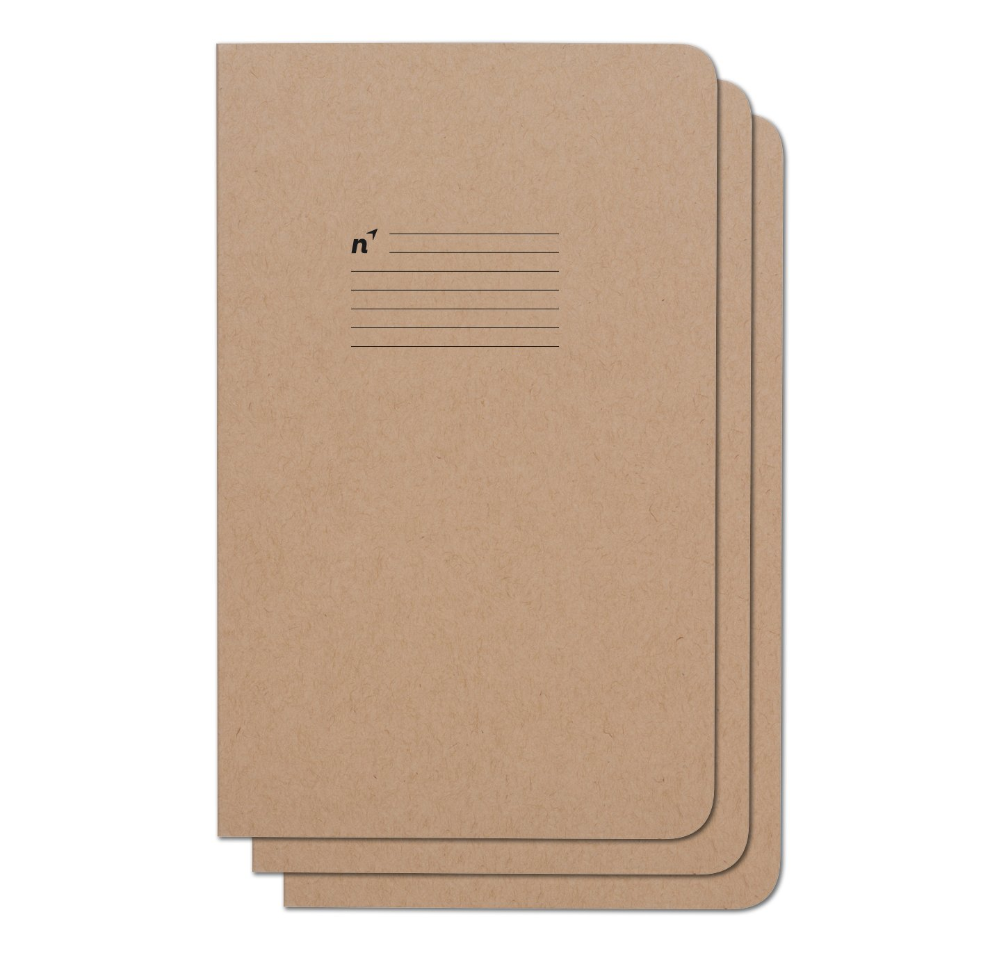 Northbooks USA Eco Journal Writing Notebook   Lined College Ruled Pages   3 Premium Recycled Notebooks   5x8