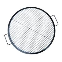 Stanbroil Heavy Duty X-Marks Fire Pit Cooking Grill with Support X Wire, Outdoor Round BBQ Campfire Grill, Camping Cookware, 36-Inch