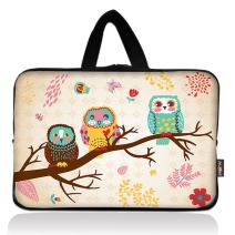 AUPET Cute Three Owls Universal 7~8 inch Tablet Portable Neoprene Zipper Carrying Sleeve Case Bag