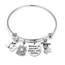 MAOFAED 21st Birthday Bracelet 13th Sweet 16 18th Inspiration Birthday Gift Believe in Yourself Anniversary Jewelry