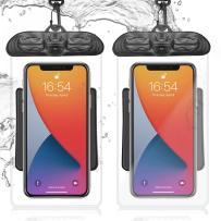 """Waterproof Phone Pouch - 2 Pack Universal IPX8 Water Proof Cell Phone Pouch Case 7"""" with Lanyard Dry Bag for iPhone 12 11 Pro Max Samsung LG Underwater Pictures Taking Swimming Kayaking"""