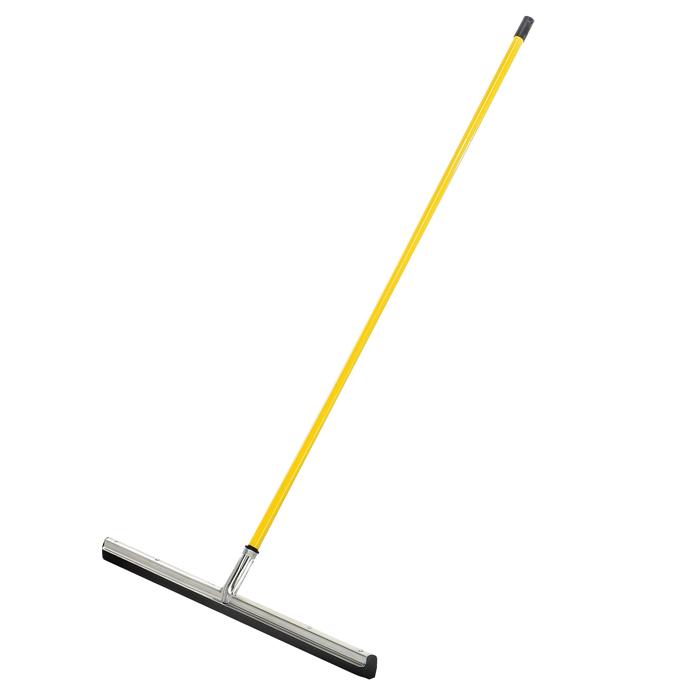 Alpine Industries Heavy-Duty Dual Moss Floor Squeegee with 50 Handle - Industrial Grade Soft Foam Replacement Head for Cleaning Wet & Dry Concrete, Wood & Tile Floors (30 in)