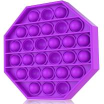 Push Pop Bubble Sensory Fidget Toy-Autism Special Needs Stress Reliever Silicone Stress Reliever Toy, Squeeze Fidget Sensory Toy for Kids, Family, and Friends (Hexagon-Purple)