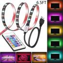 Led Strip Lights 6.56ft for 40-60in TV USB Backlight Kit with Remote, 16 Color 5050 Bias HDTV, for 40-60