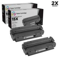 LD Compatible Toner Cartridge Replacement for HP 15X C7115X High Yield (Black, 2-Pack)