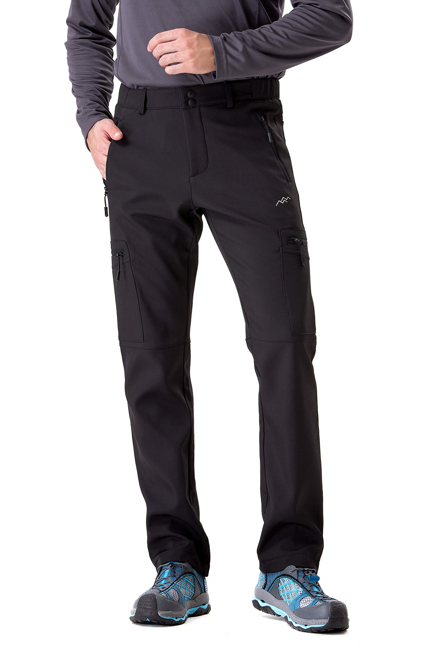 TRAILSIDE SUPPLY CO. Men's Fleece-Lined Softshell Cargo Pants, Insulated, Water/Wind-Resistant