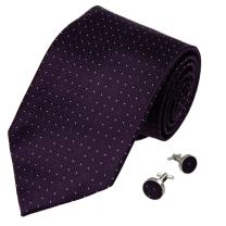 Y&G Men's Fashion Multicolored Checkers Necktie Pretty Gift Mens Silk Tie Cufflinks Set 2PT