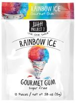 Project 7 Sugar Free Gum, Rainbow Ice, 12 Pouches, 144 Pieces Total