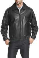 BGSD Men's Aaron Classic Cowhide Leather Bomber Jacket (Regular and Big & Tall Sizes)